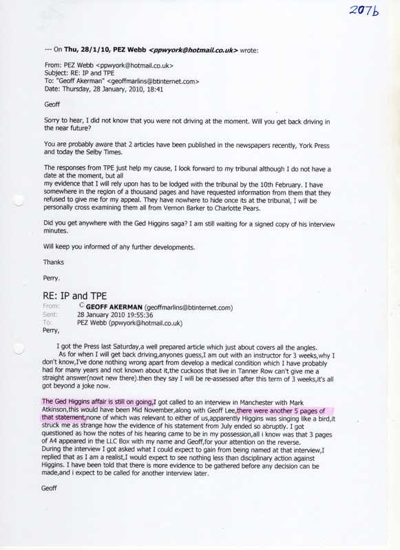 grievance outcome letter template - witness statement liar paul watson transpennine